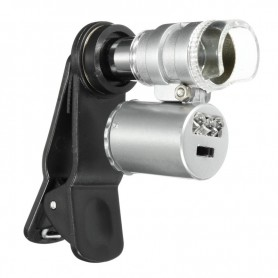 NedRo - 8MM 60X Zoom Microscope Magnifier with LED UV - Magnifiers microscopes - AL465-CB www.NedRo.us
