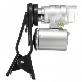 NedRo - 8MM 60x Zoom microscoop loep loeplens met LED UV - Loepen en Microscopen - AL465-C www.NedRo.nl