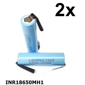 LG - LG INR18650MH1 3200mAh 10A 3.6V rechargeable Lithium battery - Size 18650 - NK075-CB www.NedRo.us