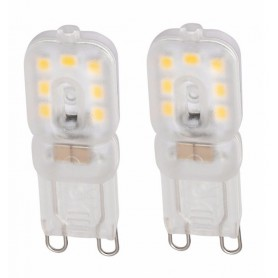 NedRo, Mini G9 6W Bec cu LED-uri Alb Cald Milky SMD2835 - 2 bucăți, G9 LED, AL900-CB, EtronixCenter.com