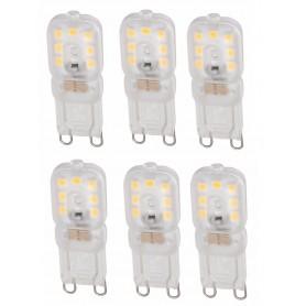 NedRo - Mini G9 6W Bec cu LED-uri Alb Cald Milky SMD2835 - Nereglabil - G9 LED - AL900-CB www.NedRo.ro