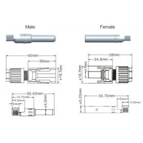 NedRo - 5 Seturi MC4 DC Conector panou solar DC male - female 30A 1000V - Panouri solare și turbine eoliene - AL289 www.NedRo.ro