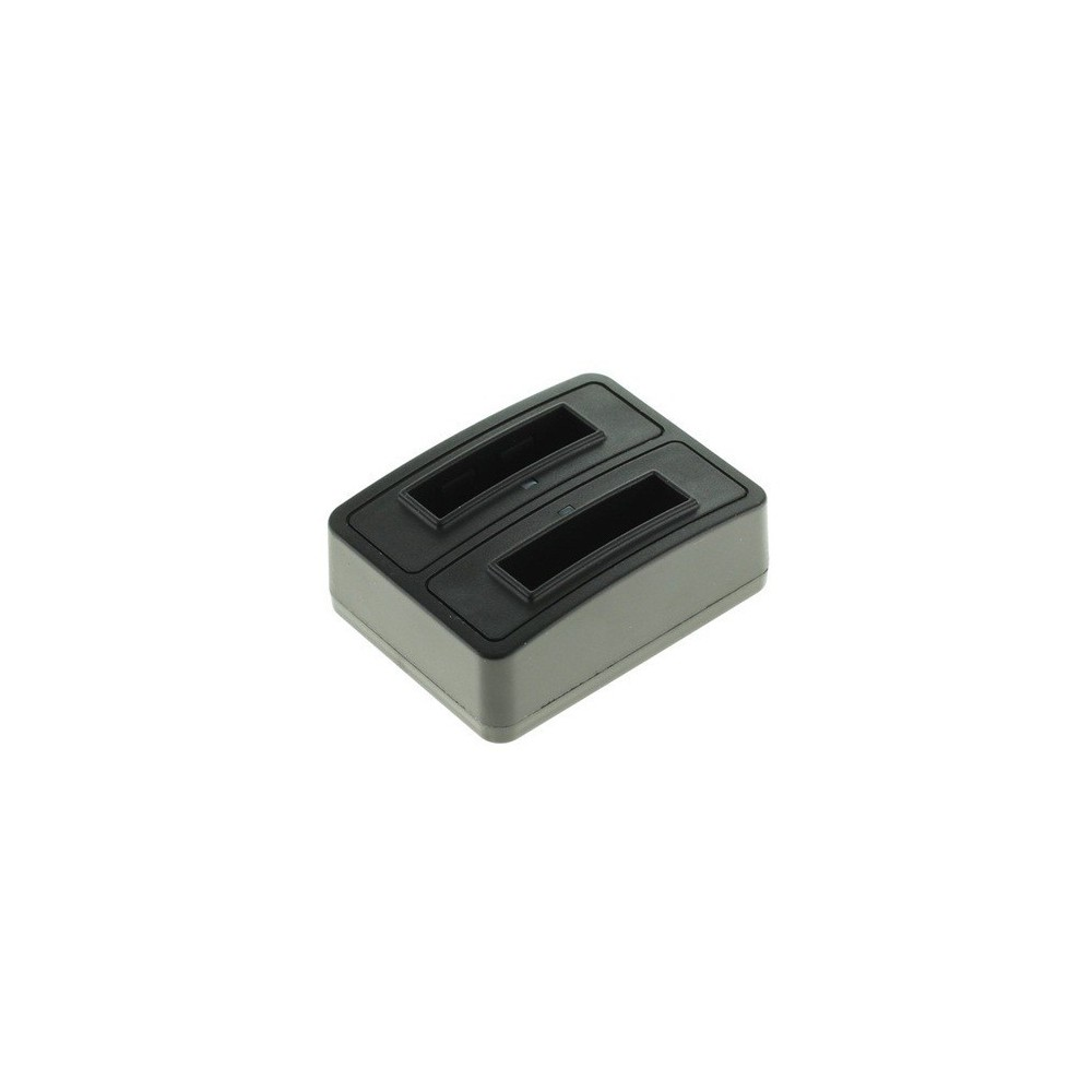 Dual Battery Chargingdock compatible met Fuji NP-50 / D-LI68 / Klic-7004
