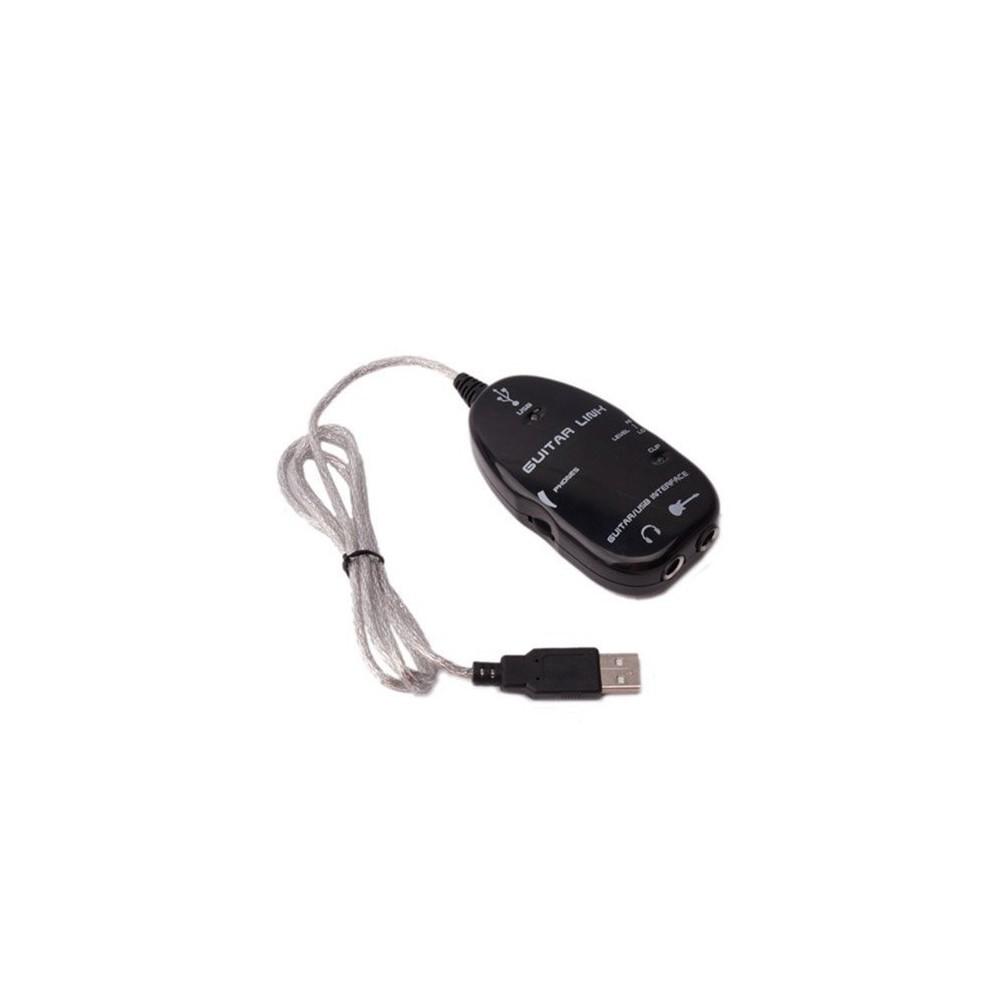 USB Guitar Link Cable Adapter Black AL301
