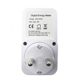 Calex - Digitale Wattmeter met LCD-scherm AC 230V 16A 3680W - Pluggen en Adapters - AL1033 www.NedRo.nl