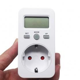 Calex, Digitale Wattmeter met LCD-scherm AC 230V 16A 3680W, Pluggen en Adapters, AL1033, EtronixCenter.com