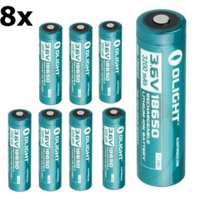 OLIGHT - Olight 3200mAh 3.6V 18650 Rechargeable Li-ion Battery for R20 - Size 18650 - NK391-CB www.NedRo.us