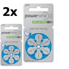 Varta - Power One 675, PR44 1.45V Baterie pentru auditive - fără mercur - Baterii plate - BS085-CB www.NedRo.ro