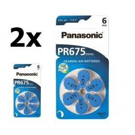 Panasonic - Panasonic 675 / PR675 / PR44 baterii aparate auditive - Baterii plate - BL260-CB www.NedRo.ro