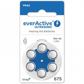 EverActive - everActive ULTRASONIC 675 Hearing Aid Battery - Button cells - BL284-CB www.NedRo.us