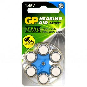 GP - GP 675 / ZA675 / PR44 Hearing Aid Battery 1.45V - Button cells - BL285-CB www.NedRo.us