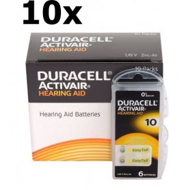 Duracell - Duracell ActivAir 10MF Hg 0% 1.45V 100mAh Baterii pentru aparate auditive - Baterii plate - BS263-CB www.NedRo.ro