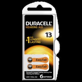 Duracell - Duracell Type 13 (oranje) 1.45V Gehoorapparaat batterijen - Knoopcellen - BS267-CB www.NedRo.nl