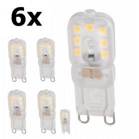 NedRo, Mini G9 5W Bec cu LED-uri Alb Cald Milky SMD2835 - Reglabil, G9 LED, AL166-CB, EtronixCenter.com