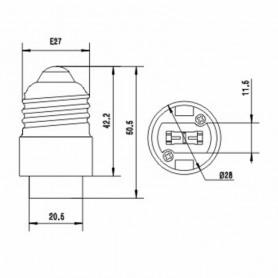 unbranded - E27 to G9 Socket Converter / adapter - Light Fittings - LCA19-CB