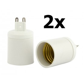 NedRo, G9 naar E27 Fitting Omvormer, Lamp Fittings, LCA02-CB, EtronixCenter.com
