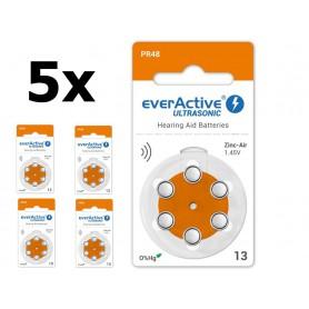 EverActive - everActive ULTRASONIC 13 1.45V Gehoorapparaat batterijen - Knoopcellen - BL288-CB www.NedRo.nl