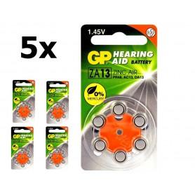 GP - GP 13 / ZA13 / PR48 1.45V Gehoorapparaat batterijen - Knoopcellen - BL289-CB www.NedRo.nl
