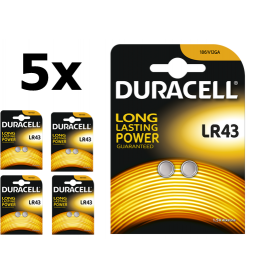 Duracell - Duracell G12 / LR43 / 186 baterii - Baterii plate - BS268-CB www.NedRo.ro