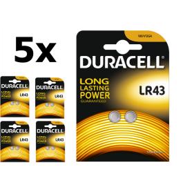 Duracell, Duracell G12 / LR43 / 186 batterij, Knoopcellen, BS268-CB, EtronixCenter.com