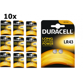 Duracell, Duracell G12 / LR43 / 186 battery, Button cells, BS268-CB, EtronixCenter.com