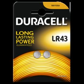 Duracell, Duracell G12 / LR43 / 186 batterij (Duo Blister), Knoopcellen, BS268-CB, EtronixCenter.com
