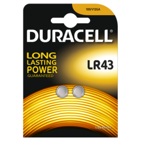 Duracell, Duracell G12 / LR43 / 186 battery (Duo Blister), Button cells, BS268-CB, EtronixCenter.com