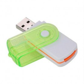 NedRo - Multifunctionele USB Kaartlezer 4 in 1 USB 2.0 M2 SD SDHC SD TF Geheugenkaart Smart Reader - SD en USB Memory - AL285...