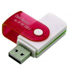 NedRo - Card Reader Adapter 4 in 1 USB2.0 M2 SD SDHC SD TF - SD and USB Memory - AL285-CB www.NedRo.us