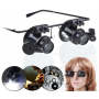 NedRo - 20x-Zoom Magnifier Glasses With LED Light - Magnifiers microscopes - AL1042 www.NedRo.us