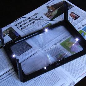 NedRo - Lupa masuta portabila A4 3x lupa + 4 leduri - Lupe și Microscoape - AL1049 www.NedRo.ro