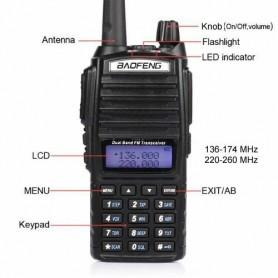 Oem - Walkie Talkie UHF+VHF 136-174MHZ+400-520MHZ 5W 128CH Two Way Radio BaoFeng UV-82 - Phone accessories - AL1054