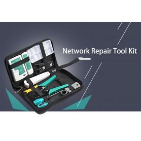 NedRo, WLXY 11 Delig Draagbare LAN Netwerk Reparatie Gereedschap Set, Netwerkgereedschap, AL1056, EtronixCenter.com