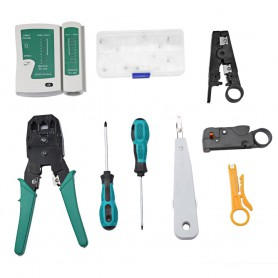 NedRo - 11in1 Tool Set Computer Network Repair Tool Kit - Network Tools - AL1056 www.NedRo.us