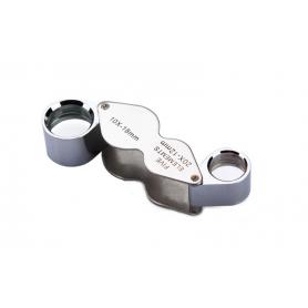 NedRo - 10x-18mm si 20x-12mm lupă argintie mini pentru bijuterii - Lupe și Microscoape - AL1057 www.NedRo.ro