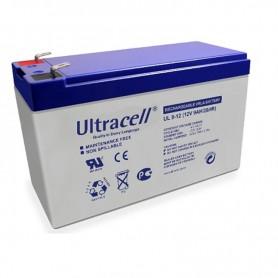 Ultracell UL9-12 12V 9Ah 9000mAh Oplaadbaar Loodaccu