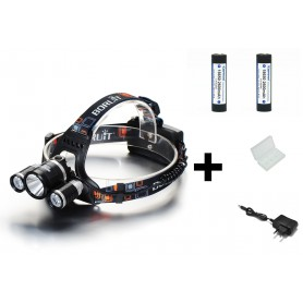 Boruit, 3000Lm XML-T6 2x XML-U2 LED Bike Headlight with 2x 18650 Batteries and charger, Flashlights, HLP01+2x-NK217