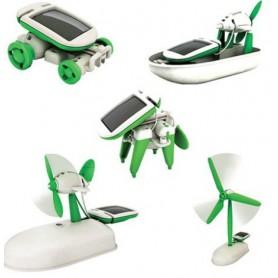 NedRo, 6 în 1 Kit Solar de jucărie DIY Educațional Robot masina barca câine ventilator Puppy, Panouri solare și turbine eolie...