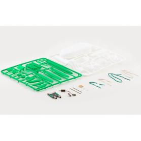 NedRo - Zonne-energie 6 in 1 Toy Kit DIY Educatief Robot Auto Boot Hond Fan Plane Puppy - Zonnepanelen en Windturbines - AL10...