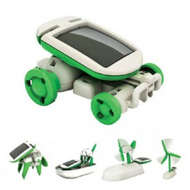 unbranded, Solar Power 6 in 1 Toy Kit DIY Educational Robot Car Boat Dog Fan Plane Puppy, DIY Solar, AL1039