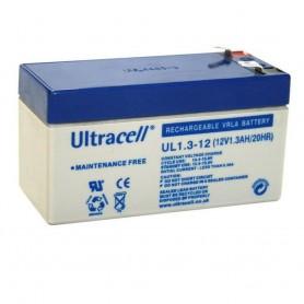 Ultracell - Ultracell VRLA / Loodaccu UL 12v 1300mAh UL1.3-12 - Loodaccu - BS286 www.NedRo.nl