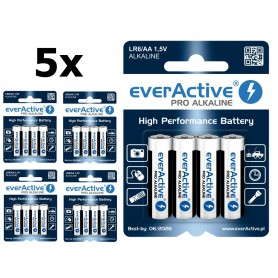 EverActive - LR6 AA everActive Pro Alkaline batteries - Size AA - BL212-CB
