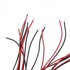 NedRo - 10 bucăți Clip baterie de 9V cu două fire - Accesorii pentru baterii - AL1036 www.NedRo.ro