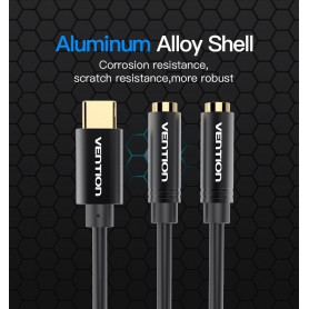 Vention - USB Tip-C Male la 2 x 3.5mm jack Female audio splitter cablu - Cabluri audio - V076 www.NedRo.ro