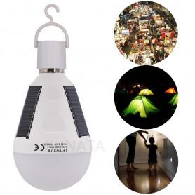 Waterproof 12W E27 Portable Solar Rechargeable Led Bulb