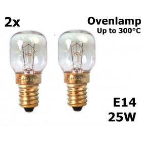 Calex - Ovenlamp 240V 25W E14 300 C 25x55mm CA059 - E14 - CA059 www.NedRo.nl