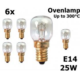 Calex, Ovenlamp 240V 25W E14 300°C 25x55mm CA059, E14, CA059-CB, EtronixCenter.com