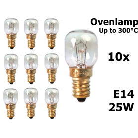 Calex - Ovenlamp 240V 25W E14 300°C 25x55mm CA059 - E14 - CA059 www.NedRo.us