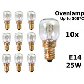 Calex - Ovenlamp 240V 25W E14 300 C 25x55mm CA059 - E14 - CA059-CB www.NedRo.nl