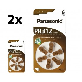 Panasonic - Panasonic 312 / PR312 / PR41 Hearing Aid Battery - Button cells - BL247-CB www.NedRo.us